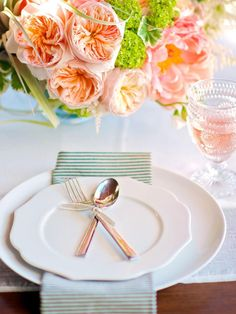 Simple place setting for tea party