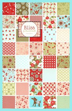 Moda Bliss fabric for bed quilts