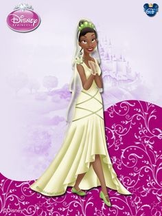 Tiana, from 'The Princess and the Frog'. Disney Princess Fashion, Disney Style, Disney Love, Disney Magic, Disney Art, Disney Pixar, Disney Dream, Disney Princesa Tiana, Snow White Outfits