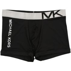 Michael Kors Statement Icon Trunk (Black) Men's Underwear ($20) ❤ liked on Polyvore featuring men's fashion, men's clothing, men's underwear, black, mens swim trunks, mens underwear boxer briefs, mens boxer briefs, mens trunks and mens underwear trunks
