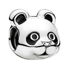 PANDORA 'Peaceful Panda' Charm (2.055 RUB) ❤ liked on Polyvore featuring jewelry, pendants, silver, pandora jewellery, pandora charms, animal jewelry, animal charms and panda bear jewelry