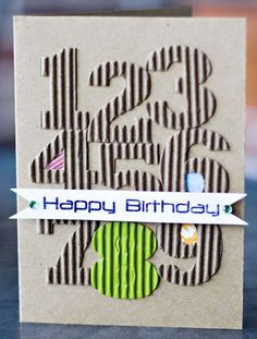 good child b-day card; note insides of number holes have PP; Birthday card