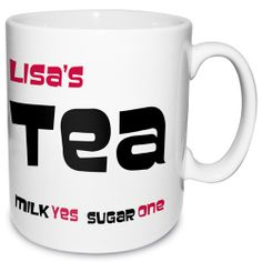 Personalised Tea Mug  from Personalised Gifts Shop - ONLY £9.99