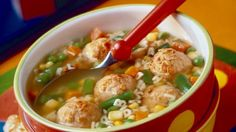 If you can find whole grain alphabet pasta (or simply use your favorite whole grain pasta) so much the better. Either way, this soup gets a great whole grain boost from the oats in the turkey meatballs. A great soup for kids. Mediteranian Diet Recipes, Abc Soup, Alphabet Pasta, Healthy Cooking, Healthy Recipes, Eating Healthy, Soups For Kids, Meatball Soup, Whole Wheat Pasta