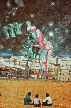 The Consequence Of Love. Surreal Mixed Media Collage Art By Ayham Jabr.