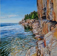 Acrylic on Gallery Canvas Lake Superior Provincial Park Available at Koyman Gallery Watercolor Landscape, Abstract Watercolor, Landscape Art, Landscape Paintings, Landscapes, Canadian Painters, Canadian Artists, Amazing Paintings, Amazing Art