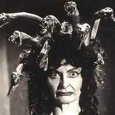 The Gorgon. Hammer horror from 1964: http://horrorpedia.com/2013/01/30/the-gorgon/