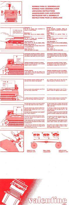 Olivetti Valentine user manual