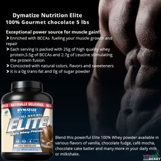 An intense workout, recovery from post workout or to boost your protein intake, Elite 100% Whey Protein is an all-natural product enhancing your protein supplement.  https://www.vitaminberry.com/dymatize-nutrition-elite-100-gourmet-chocolate-5-lbs.html  #elitewheyprotein #Dymatize #vitaminberry