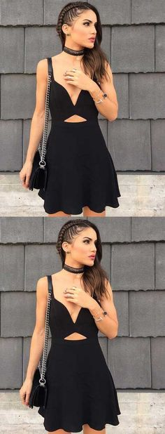 sexy cocktail dresses short,short black homecoming dress,simple homecoming dress,keyhole front,fashion style,fashion dresses for party, short black prom dress 2017,hoco dresses 2017,homecoming