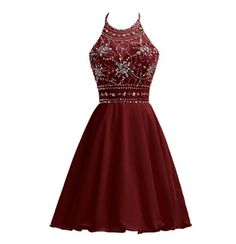 online shopping for Belle House Chiffon Homecoming Dresses For Juniors Halter Prom Party Ball Gowns from top store. See new offer for Belle House Chiffon Homecoming Dresses For Juniors Halter Prom Party Ball Gowns Red Formal Dresses, Semi Dresses, Hoco Dresses, Junior Dresses, Dresses For Teens, Dance Dresses, Stylish Dresses, Homecoming Dresses, Pretty Dresses