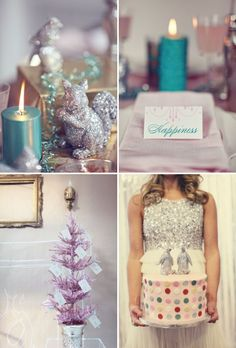 How cute is this glittery holiday decor?!