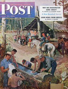 1950 John Clymer art for Saturday Evening Post  |  #RetroReveries