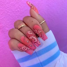 In search for some nail designs and ideas for your nails? Listed here is our set of must-try coffin acrylic nails for fashionable women. Long Nail Designs, Acrylic Nail Designs, Ghetto Nail Designs, Exotic Nail Designs, Shellac Nail Designs, Nail Swag, Bling Nails, My Nails, How To Do Nails