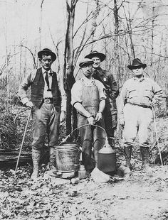 Moonshiners plying their trade.