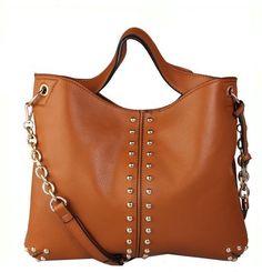 http://www.bonanza.com/listings/Worldwide-Free-Shipping-Michael-Kors-Chain-And-Rivet-Astor-Bag-Brown/174424011