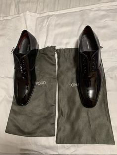 d14509cb91b3 Tom Ford Black Patent Leather Penny Loafers Men s Size 8.5 --Made in Italy