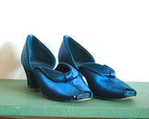 Check out our satin slippers selection for the very best in unique or custom, handmade pieces from our slippers shops. Daniel Green Slippers, Medium Well, Bedroom Slippers, 2 Inch Heels, Blue Satin, Satin Fabric, 1940s, Character Shoes, Boudoir