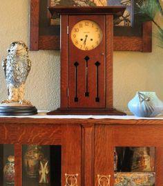 Arts & Crafts - Craftsman - Bungalow - Home - Wally Birds - Clock - Stickley - Harvey Ellis