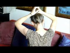 ▶ Messy bun - tutorial. - YouTube
