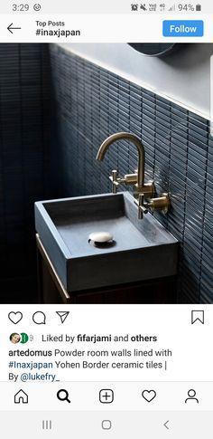 Grey Bathrooms, Aqua Bathroom, Bathroom Accessories Sets, Powder Room, Double Vanity, Tiles, Sink, Mirror, Home Decor