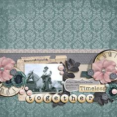 Layout by Natalie using Simply Timeless Digital Scrapbooking kit by Simple Girl Scraps and Fuss Free Celebrate Everyday Joy Template by Fiddle Dee Dee Designs