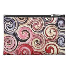 Swirl Me Pretty Colorful Red Blue Pink Pattern Travel Accessories Bag