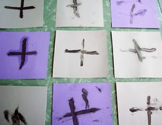 of Green Tables: Ashes, Ashes, We All Fall Down Holy Week Activities, Church Activities, Easter Activities, Dementia Activities, Preschool Ideas, Craft Ideas, Religion Activities, Catholic Lent, Advent