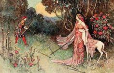 Fairytale illustration by Warwick Goble