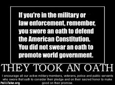 Remember who and what you swore an oath to defend.  Please protect us!