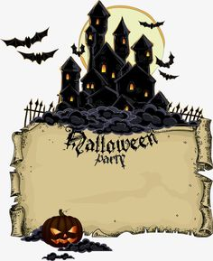 Vector halloween castle PNG and Vector