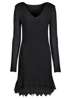 knitted dress with lace trim.....sweet <3