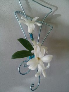 Prom boutonniere.  Love the wire work! Style number  B-14