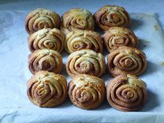 "Cardamon lifts these Finnish pastries called 'Korvapuusti' (""Slapped Ears"") above your usual cinnamon buns. Recipe: http://www.food.com/recipe/korvapuusti-finnish-cinnamon-rolls-428065"