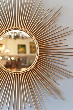 Diy Home Decor Dollar Store - New ideas Diy Crafts For Home Decor, Easy Diy Room Decor, Diy Wall Decor, Diy Para A Casa, Diy Casa, Sunburst Mirror, Diy Mirror, Brass Mirror, Handmade Home