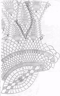 Oval Table Center - floral eye  crochet patterns
