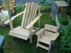 Chaises de jardin en palettes - par souljahwood sur le #CDB