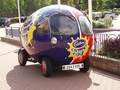 As the Easter holidays approach we thought it was only right that we share this beauty of a car... ...the Cadbury Creme egg car! How would you drive yours?