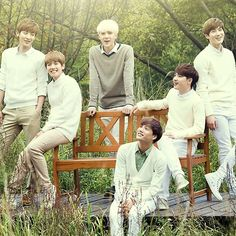 """EXO-K """"Look at their smiles :D Nature Republic photo-shoot"""""""
