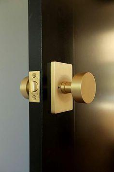 Satin brass door hardware from Emtek. | What\'s New from Emtek ...