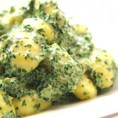 Gnocchi in a Creamy Kale Sauce from Nanita's Kitchen.