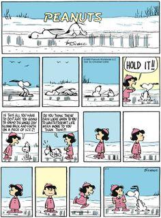 Retro Snoopy on the ice
