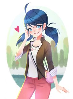 Marinette from Miraculous Ladybug and Cat Noir Ladybug E Catnoir, Ladybug Comics, Cn Fanart, Marinette Ladybug, Mlb, Catty Noir, Art Manga, Marinette And Adrien, Super Cat