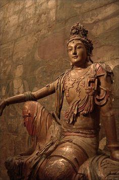 Gold Buddha by iannewlin Mahayana Buddhism, Buddhist Symbols, Religion, Buddha Art, Guanyin, Sacred Art, Chinese Art, Indian Art, Japanese Art