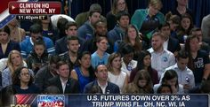 A lot of Hillary supporters were openly weeping at HQ when their fortunes turned