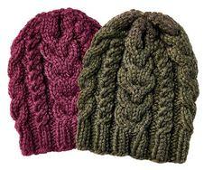 Eine dicke Zopfmüster darf in keinem Herbst und Winter fehlen. Wir stricken uns die Zopfmütze gleich in mehreren Farben.  Zur Anleitung: Zopfmütze stricken