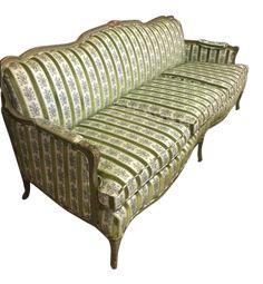 Mid-Century Modern Custom Made Italian Lime Green Sofa on Chairish.com