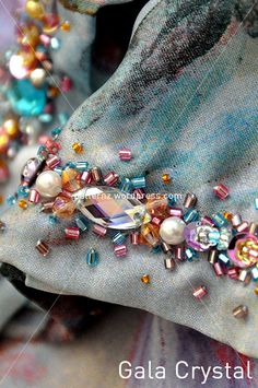 October 5 ... Bead Embroidery Patterns, Tambour Embroidery, Embroidery On Clothes, Couture Embroidery, Bead Embroidery Jewelry, Embroidery Fashion, Hand Embroidery, Embroidery Designs, Couture Details