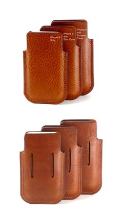 Leather iPhone 6 Holster in 3 Sizes  out of 7 with Collapsing Belt Loop by Fleur-de-Leather on Etsy