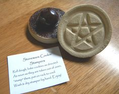 Kitchen Witchery:  A pentacle stoneware cookie stamper for the #Kitchen #Witch.